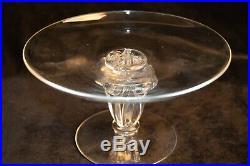 Vintage Steuben Signed Pedestal Compote Bowl Plate Cake James Mcnaughton 6 1/2