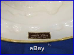 Vintage Strawberry Shortcake Ceramic Cake Plate Dome Cover Pedestal Stand Labled