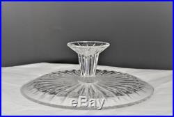 Vintage Val St Lambert Balmoral Clear Crystal Pedestal Cake Platesigned
