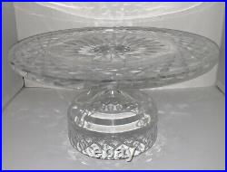 Vintage Waterford Crystal Alana 10 ROUND Footed Pedestal Cake Plate Stand