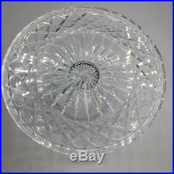 Vintage Waterford Crystal Footed Pedestal Cake Stand Plate 9 ¾ X 4 ½ Signed