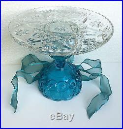 Vintage Wedding Cake Pedestal Plate Cookie Cupcake Stand Serving Moon and Stars
