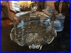 Vintageprincess House Heritage Pedestal Dome Cake Plate / Hostess #076
