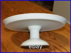 Vista Alegre Portugal Ceramic Pedestal 11 Footed Cake Plate