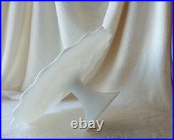 Vtg Fenton Spanish Lace Opaque Milk Glass Pedestal Stand Cake Plate 13
