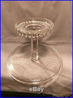 Vtg Glass Elegant EAPG Candlewick Clear Pedestal Cake Plate MINT D Miller