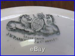 Vtg PANKHURST WHITE IRONSTONE PEDESTAL CAKE STAND PLATE SCALLOPED EDGE 11 1860