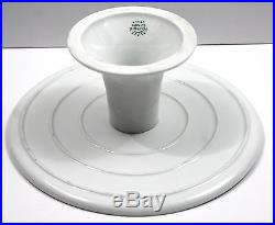 Vtg RICHARD GINORI Galli Rossi Red Rooster Porcelain Pedestal Cake Stand Plate