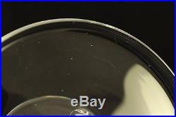 Vtg Steuben Crystal Pedestal Dish 6.5 Cake Plate Compote Candle Holder Signed
