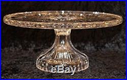 Waterford Lismore Footed Pedestal Cake Stand / Plate