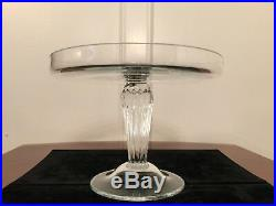 WILLIAM YEOWARD Edwina Tazza 9 Crystal Glass Cake Stand Pedestal Plate UNUSED