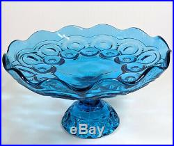 WOW Vintage LE Smith Blue Moon & Stars Pedestal Cake Plate Gorgeous