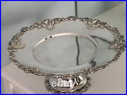 Wallace Baroque Silverplate Cake Pedestal Baroque By Wallace 11 Cake Plate VGC