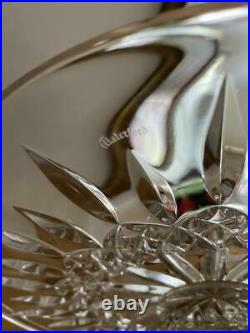 Waterford Clear Crystal Lismore Round Pedestal Cake Stand Plate 11 x 5 Excllnt