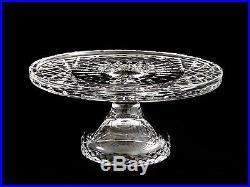 Waterford Crystal 10 Footed Pedestal Cake Pie Plate Vintage Piece