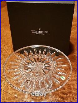 & Waterford Crystal 11 Lismore Cake Plate Footed Pedestal Stand New In Box