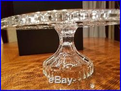 Waterford Crystal 11 Lismore Cake Plate Footed Pedestal Stand New In Box