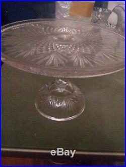 Waterford Crystal Lismore 11 Footed Pedestal Cake Plate Stand