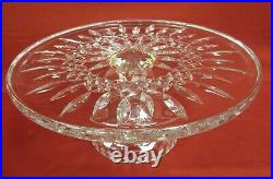 Waterford Crystal Lismore 11 Footed Pedestal Cake Plate Stand Great Condition