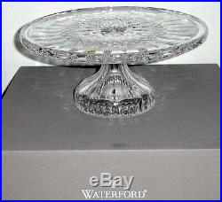 Waterford Crystal Lismore Footed Pedestal Cake Plate 11 New In Box
