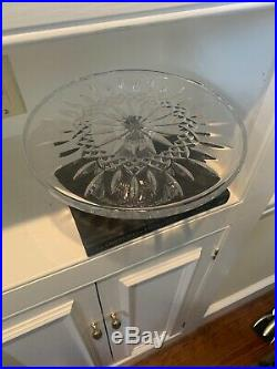 Waterford Crystal Lismore Footed Pedestal Cake Plate Stand/Server 10 3/4