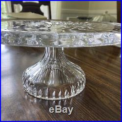 Waterford Crystal Lismore Footed Pedestal Cake Plate Stand/Server 11 Diameter