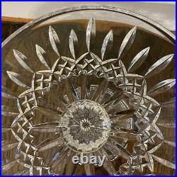 Waterford Glass Lismore Ireland 11 X 5 Round Crystal Pedestal Cake Stand Plate