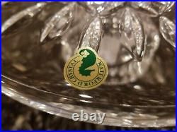 Waterford Lead Crystal Lismore Footed Cake Plate Germany BRAND NEW WITH TAGS