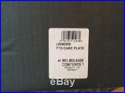 Waterford crystal Lismore 11 footed cake plate pedestal stand unused in box