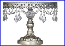 Wedding Antique Cake Stand Silver Small Pedestal Plate Party Platform Display