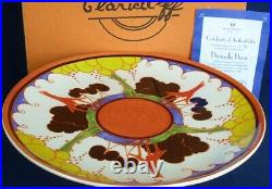 Wedgwood DIVINELY DECO Clarice Cliff pedestal cake plate box & certificate
