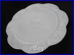White Milk Glass Cake Plate Pedestal