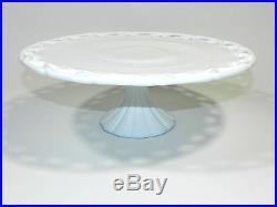White Milk Glass Pedestal Cake Plate