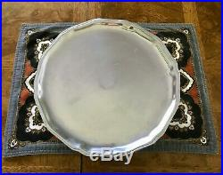 Wilton Armetale Pewter Queen Anne Pedestal Footed Cake Plate Stand Columbia PA