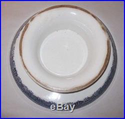 Wood & Son Pedestal Cake Plate Blue Willow England Wedgwood Cookies Dessert